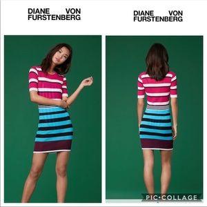 🌻 Diane Von Furstenberg Ribbed Knit T-shirt Dress